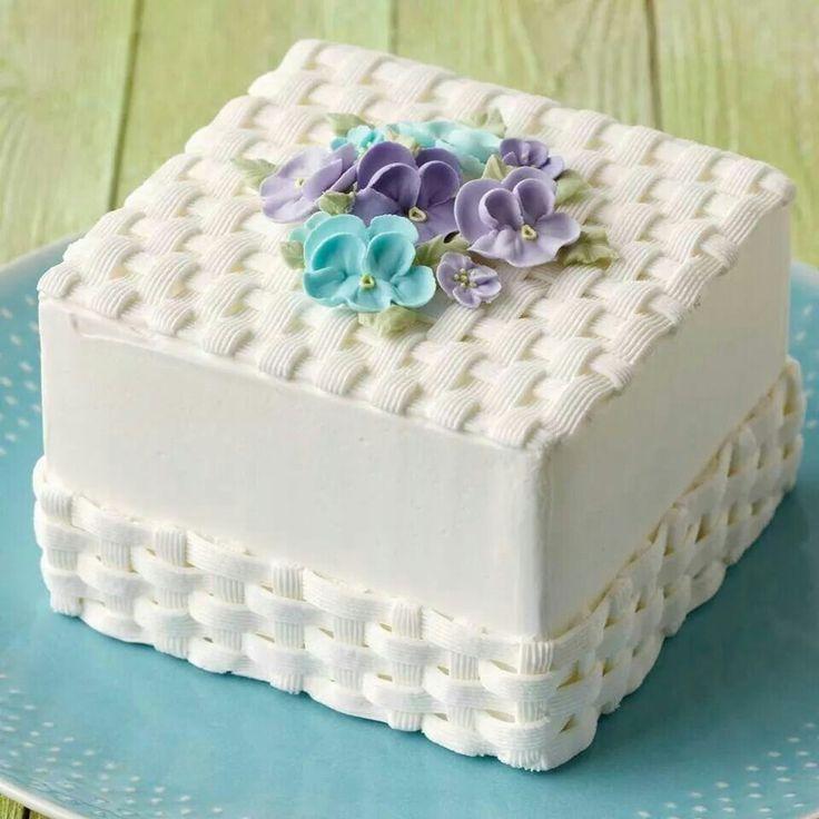 украшения квадратного торта фото большова своё
